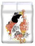 From Berlin With Love Duvet Cover