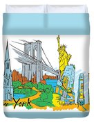 From Old To New York Duvet Cover