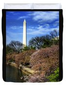 From The Basin To The Monument Duvet Cover