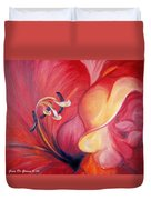 From The Heart Of A Flower Red Duvet Cover