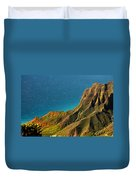 From The Hills Of Kauai Duvet Cover