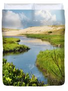 From The Sand Dunes To The Beach Duvet Cover