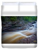 From The Top Of Temperence River Gorge Duvet Cover