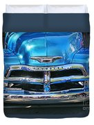 Front End Blue And Chrome Chevy Pick Up Duvet Cover
