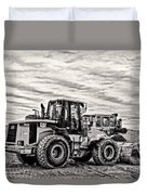 Front End Loader Black And White Duvet Cover