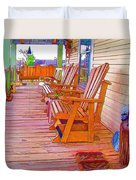 Front Porch On An Old Country House  1 Duvet Cover