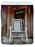 Front Porch Rocker Duvet Cover