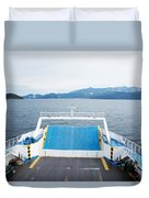 Front Side Of A Ferry  Duvet Cover