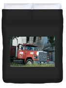 Front Of A Ford 9000 Powerhouse Duvet Cover