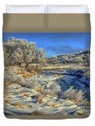 Frost Along The Creek Duvet Cover