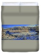 Frost Along The Creek - Panorama Duvet Cover
