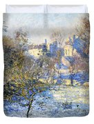 Frost Duvet Cover by Claude Monet