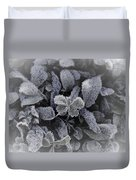 Frost On Leaves 1 Duvet Cover