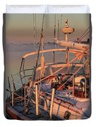 Frost On The Boat Duvet Cover