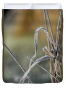 Frost On The Stems Duvet Cover