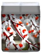 Frosted Berries Duvet Cover