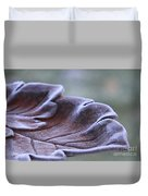 Frosted Bird Bath Duvet Cover by Kathy DesJardins