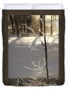 Frosted Branches Duvet Cover