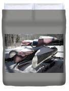 Frosted Canoes Duvet Cover