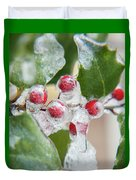 Frosted Holly Duvet Cover