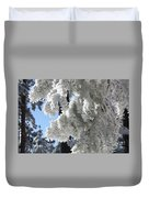 Frosted Pine Needles Duvet Cover