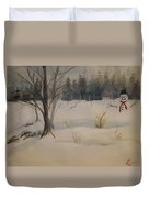 Frosting The Snowman Duvet Cover