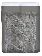 Frosty Birch Tree Duvet Cover