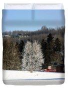 Frosty Birch Duvet Cover