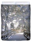Frosty Boardwalk Duvet Cover