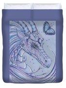 Frosty Dragon Duvet Cover