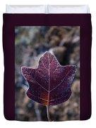 Frosty Lighted Leaf Duvet Cover