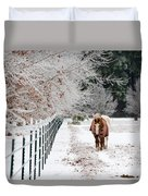 Frosty Mare Duvet Cover
