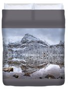 Frosty Morning In Pano Duvet Cover