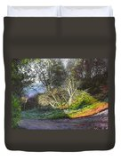 Frosty Morning Near Nant Clwyd, North Wales Duvet Cover