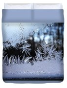 Frosty Morning Window Duvet Cover