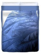 Frosty Palm Tree Fronds On Car Trunk Duvet Cover