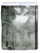 Frosty Paradise Duvet Cover
