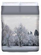 Frosty Park Duvet Cover