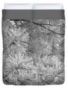 Frosty Pine Tree Duvet Cover
