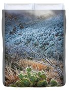 Frosty Prickly Pear Duvet Cover