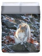 Frosty Squirrel Duvet Cover