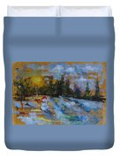 Frosty The Snow Man Duvet Cover