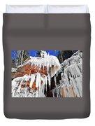 Frozen Apostle Islands National Lakeshore Duvet Cover