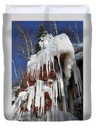 Frozen Apostle Islands National Lakeshore Portrait Duvet Cover