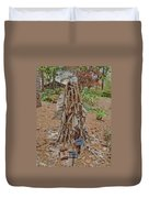 Frozen Banana Tree In Colored Pencil Duvet Cover