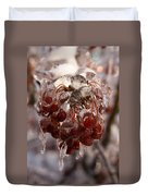 Frozen Berries Duvet Cover