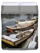 Frozen Boats Duvet Cover