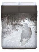 Frozen Brook Duvet Cover
