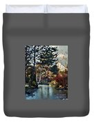 Frozen Creek II Painting Duvet Cover