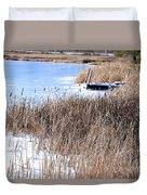 Frozen Dock Duvet Cover